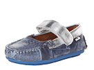 Venettini Kids - 55-Juniper (Toddler/Little Kid) (Denim/Silver Leather) - Footwear