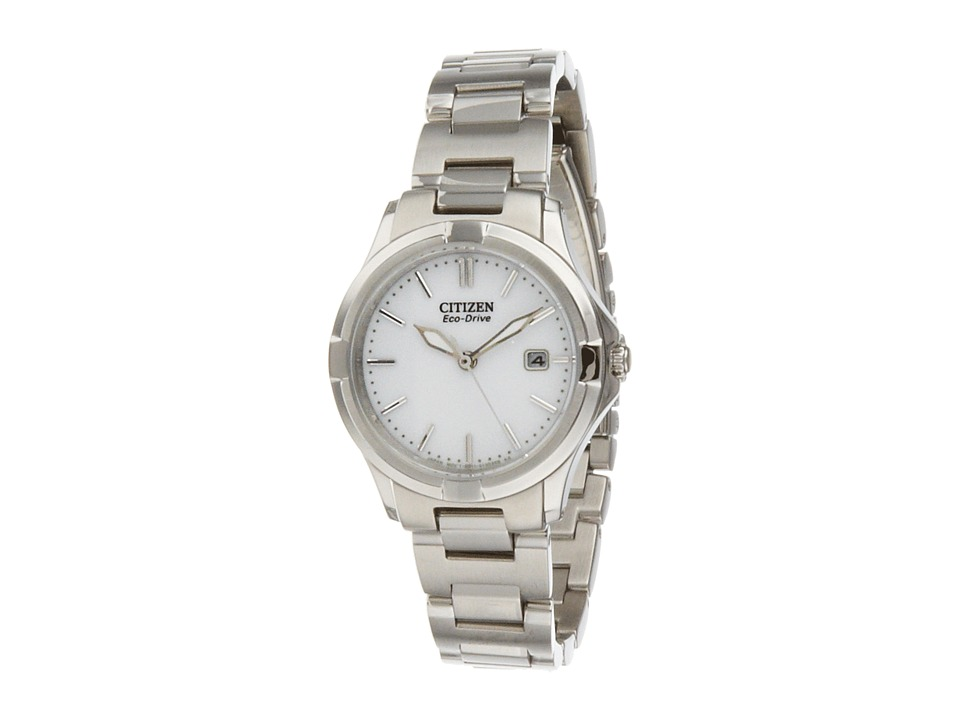 Citizen Watches - EW1960-59A Silhouette Sport (Silver Tone Stainless Steel) Watches