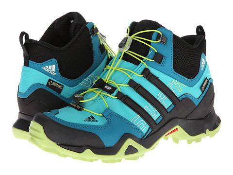 adidas Outdoor - Terrex Swift R Mid GTX W (Vivid Mint/Black/Semi Solar Slime) - Footwear