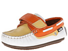 Venettini Kids - 55-Storm (Toddler/Little Kid) (White/Yellow/Orange Leather) - Footwear