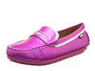 Venettini Kids - 55-Vicky (Little Kid/Big Kid) (Fuxia/White Pearlized Leather) - Footwear