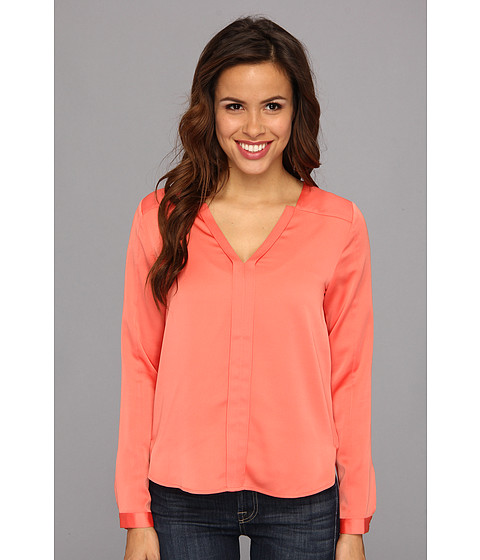 Kenneth Cole New York - Carissa Blouse (Hot Coral) - Apparel