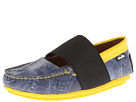 Venettini Kids - 55-Lily (Little Kid/Big Kid) (Denim/Yellow Saf Leather)