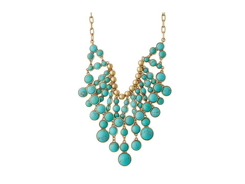 Lucky Brand Oversized Stone Necklace (Turquoise) Necklace