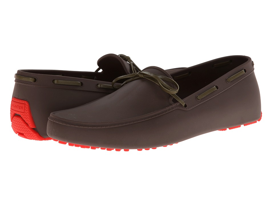 Hunter Original Men Driving Shoe (Bitter Chocolate) Men's Slip on Shoes