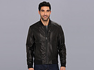 Cole Haan - Varsity Leather Jacket (Black) - Apparel