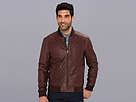 Cole Haan - Varsity Leather Jacket (Chocolate)