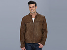 Cole Haan - Vintage Lamb Moto Jacket w/ Exposed Zippers (Maple) - Apparel