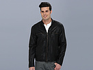Cole Haan - Vintage Lamb Moto Jacket w/ Exposed Zippers (Black) - Apparel