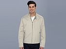 Cole Haan - Coated Cotton Moto Jacket w/ Stitch Details (Sand) - Apparel