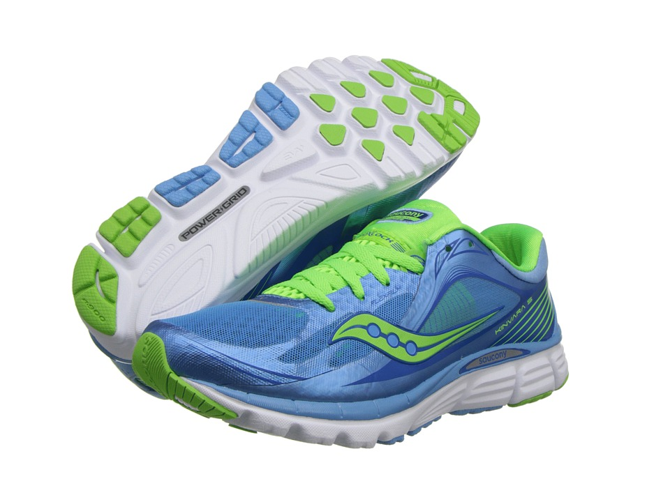 Saucony Kinvara 5 (blue/slime) Women s Running Shoes