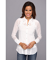 Stetson - 8973 White Voile Long Sleeve Shirt