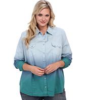 Stetson - Plus Size 8977 Dip Dye L/S Denim Shirt