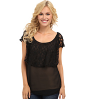 Roper - 9036 Solid Black Georgette Tank