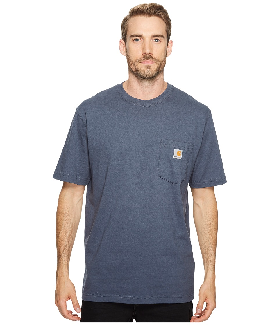 Carhartt Workwear Pocket S/S Tee K87 (Bluestone) Men's T ...