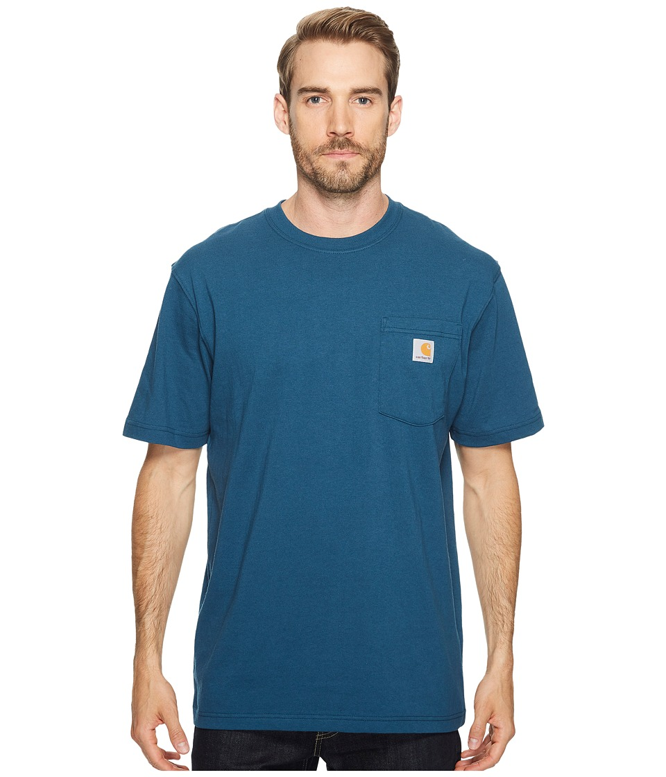 Carhartt Workwear Pocket S/S Tee K87 (Stream Blue) Men's ...
