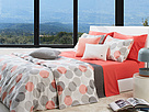 Lacoste - Odaiba King Comforter Set (Burnt Coral/Paloma) - Home at Zappos.com
