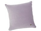 Lacoste - Velvet/Brushed Twill Pillow (Lavender Aura/Paloma) - Home at Zappos.com