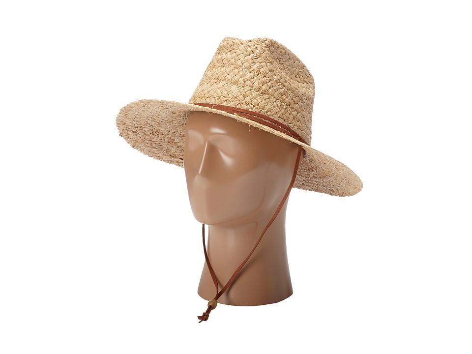 San Diego Hat Company - RSM548 Raffia Chin Cord Sun Hat (Natual) Traditional Hats