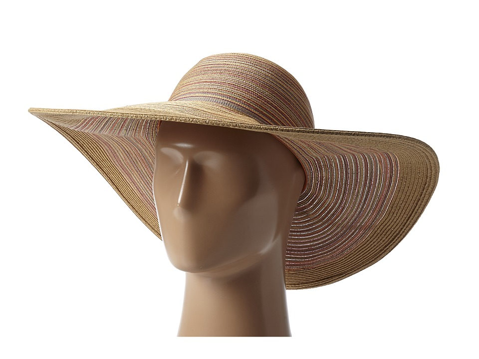 San Diego Hat Company - MXL1016 Mixed Braid Large Brim Floppy (Rust) Traditional Hats