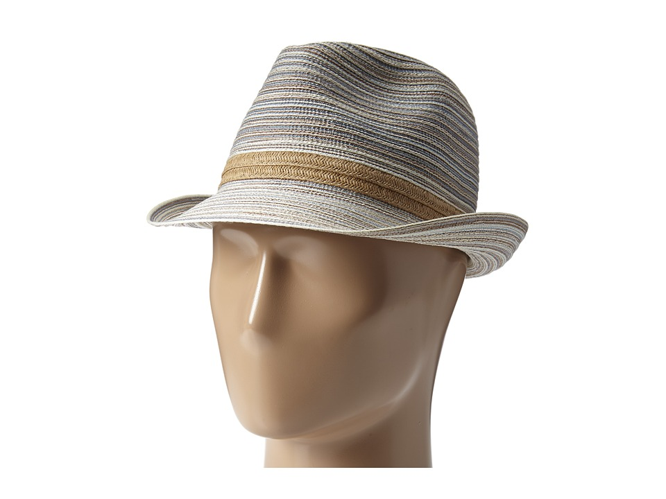 San Diego Hat Company - MXF2006 Mixed Braid Fedora (Tan) Fedora Hats