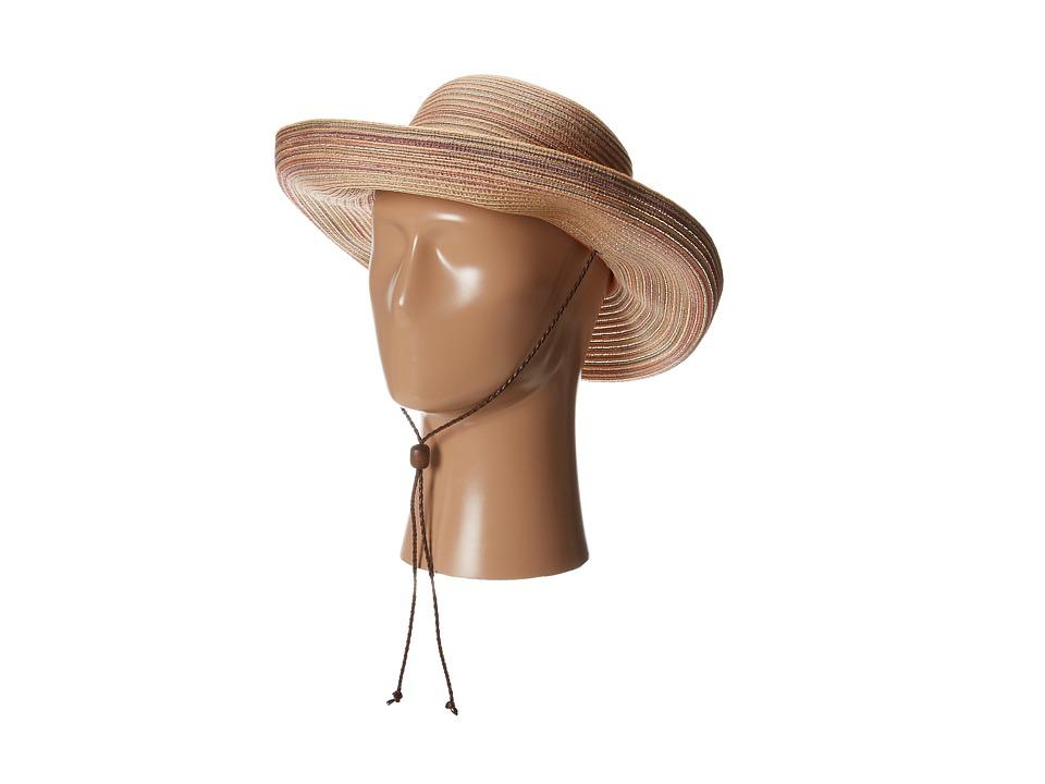 San Diego Hat Company - MXM1014 Mixed Braid Kettle Brim Hat (Rust) Traditional Hats