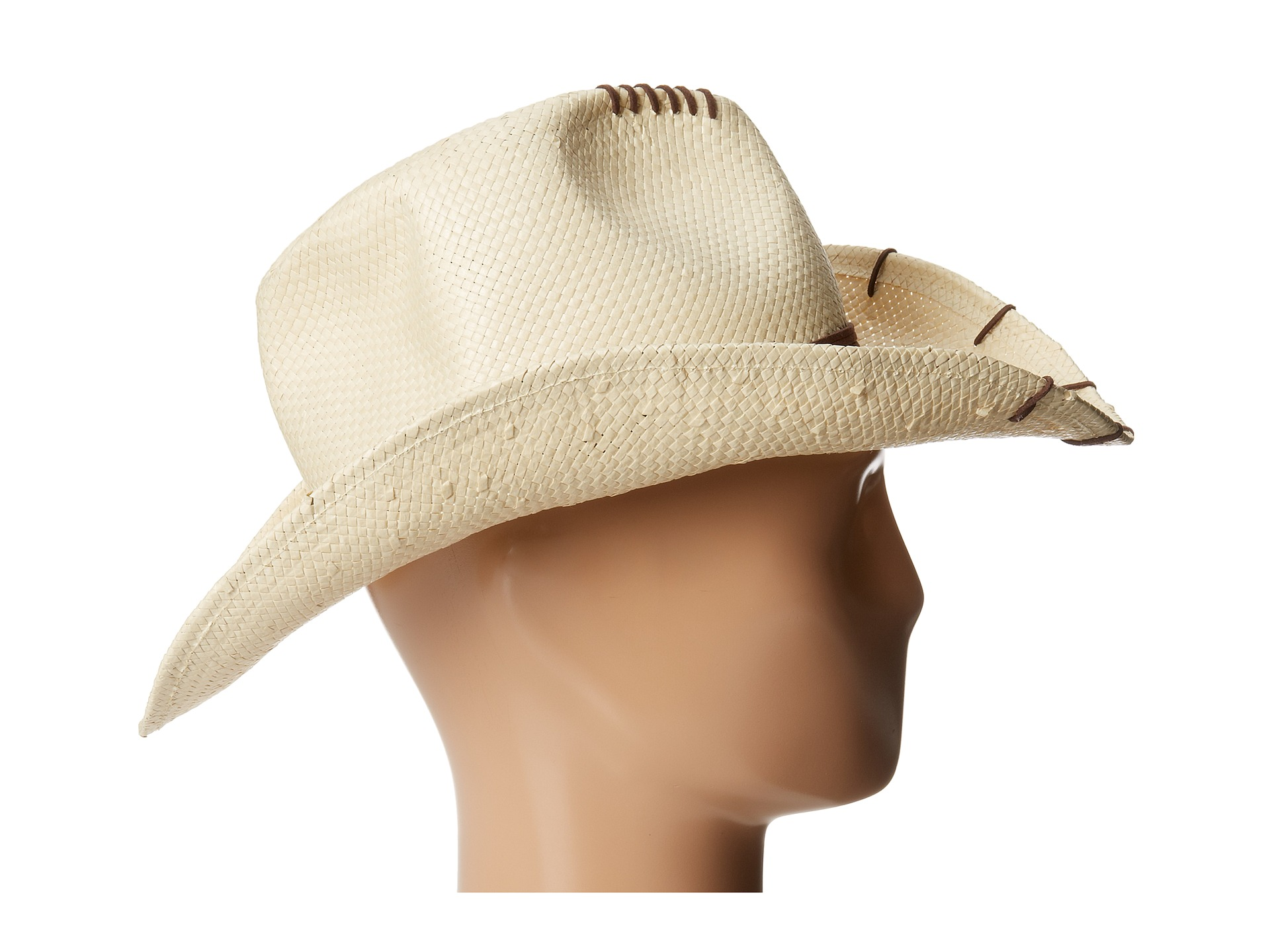black cowboy hat side view