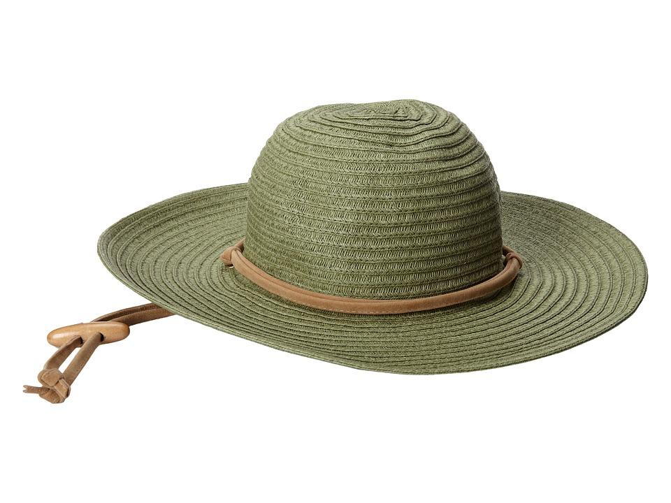 San Diego Hat Company - PBL3016 Large Brim Chin Cord Paper Braid Floppy (Sage) Traditional Hats