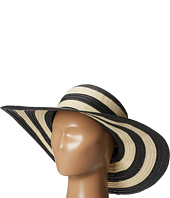 San Diego Hat Company - PBL3018 Large Brim Striped Lurex Mixed Braid Floppy