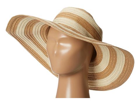 San Diego Hat Company PBL3018 Large Brim Striped Lurex Mixed Braid Floppy