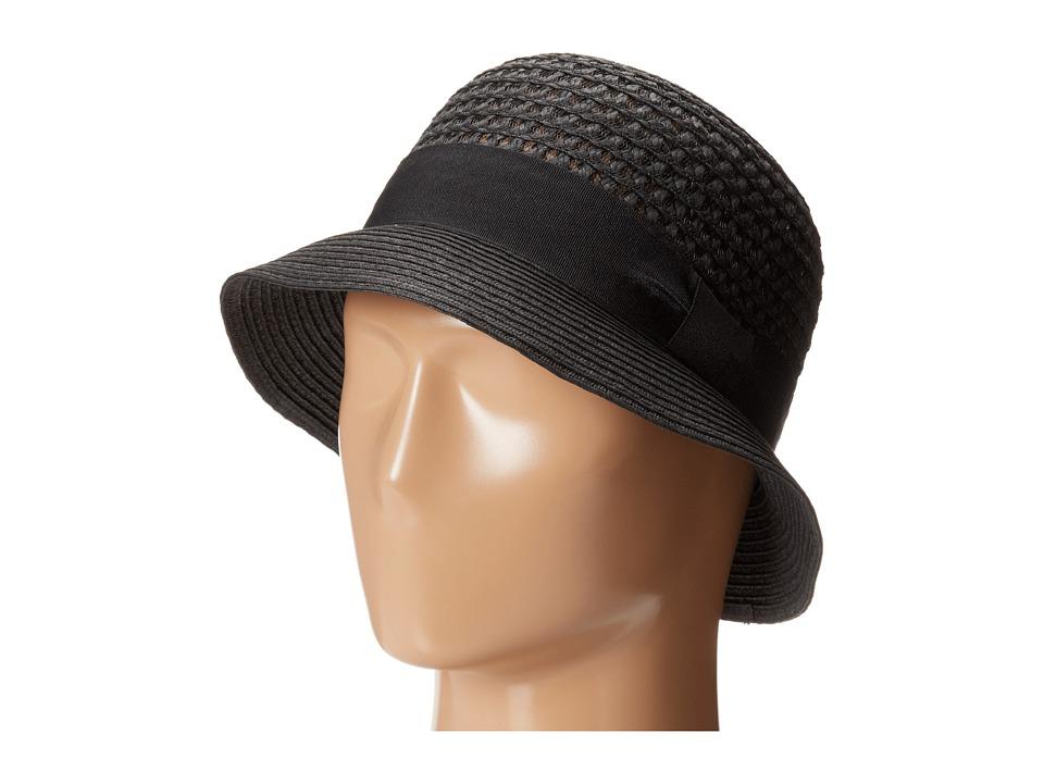 San Diego Hat Company PBS1020 Open Weave Bucket Black Bucket Caps