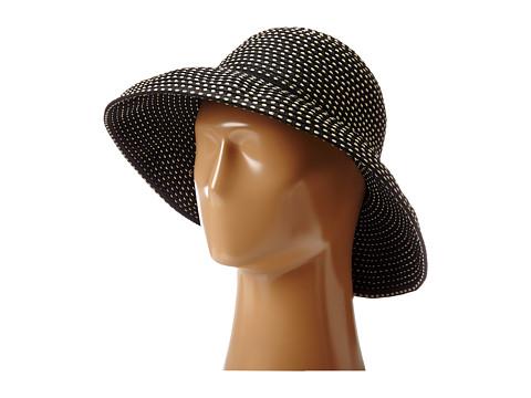 San Diego Hat Company RBM4784 Ribbon Kettle Brim Hat - Black