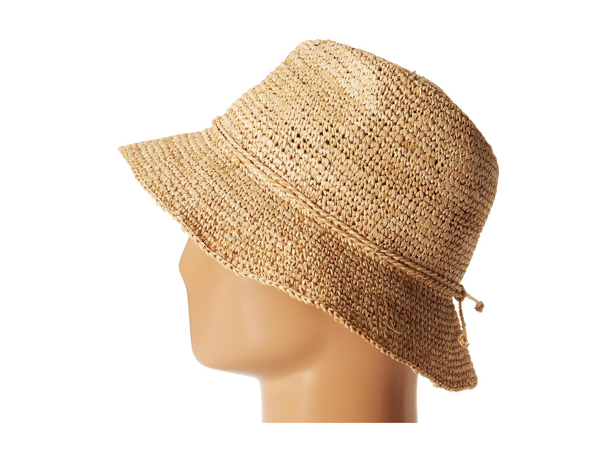 San diego hat company rhs3106 crochet raffia bucket zappos com free