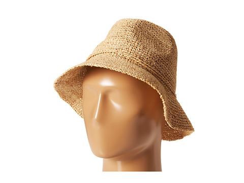 San Diego Hat Company RHS3106 Crochet Raffia Bucket - Natural