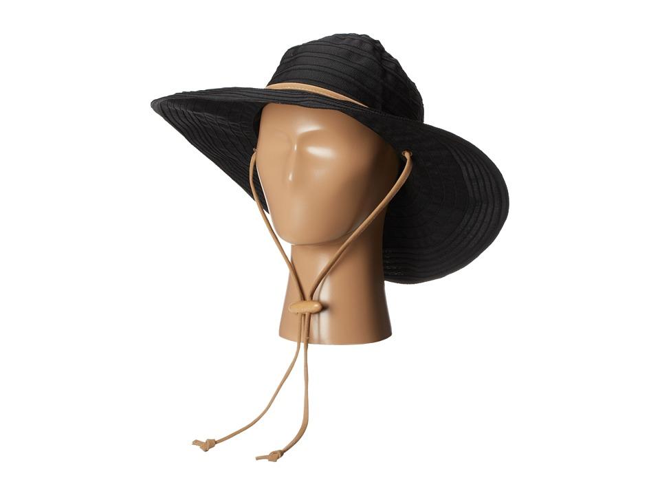 San Diego Hat Company - RBL4782 Chin Cord Ribbon Floppy (Black) Traditional Hats