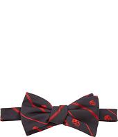 Alexander McQueen - Skull Bias Stripe Bow Tie