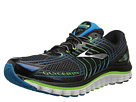 Brooks - Glycerin 12 (Black/Green Gecko/Atomic Blue) - Footwear