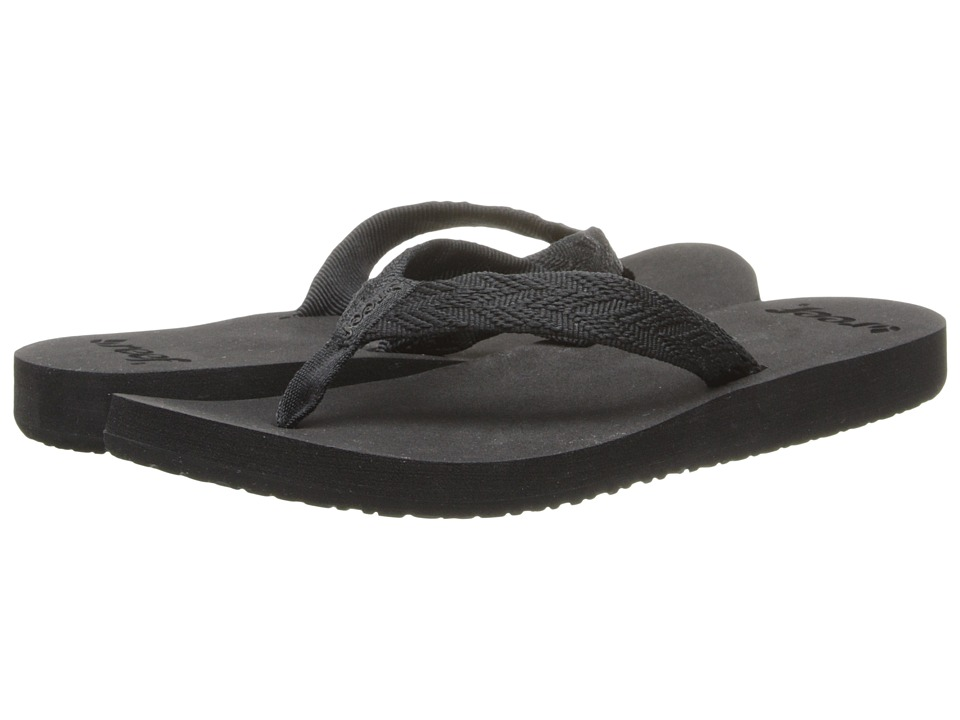Reef - Mid Seas (Black/Black) Women's Sandals