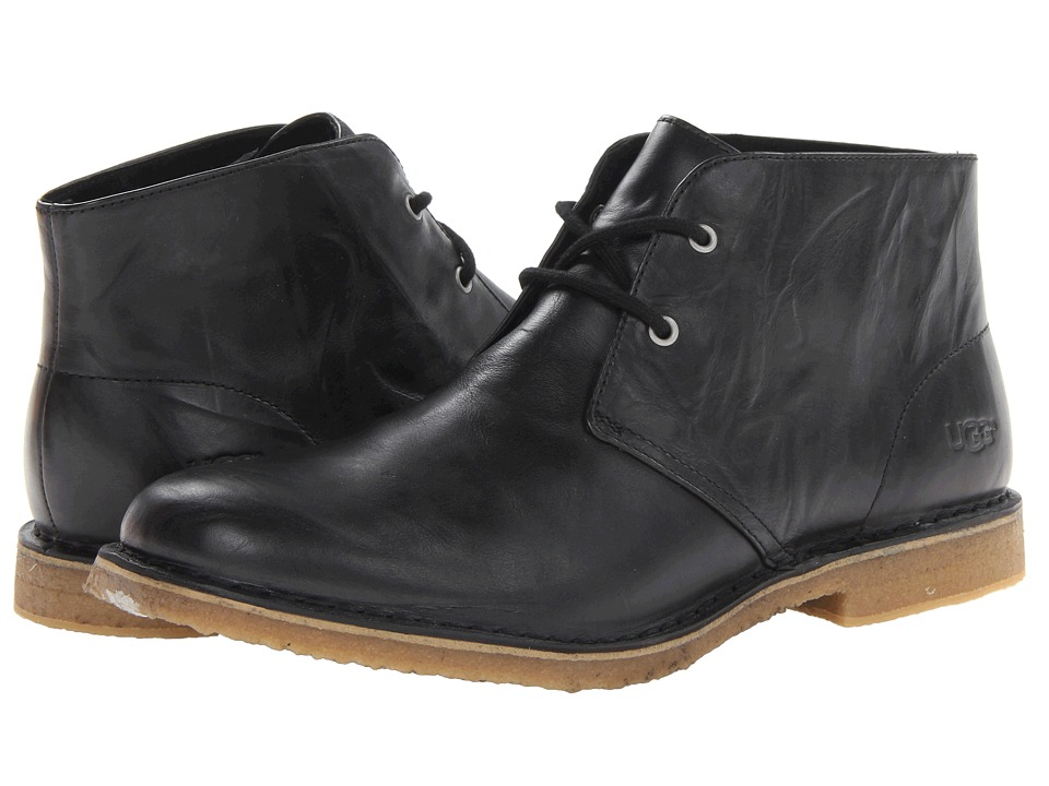 UGG - Leighton (Black) Mens Dress Lace-up Boots