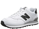 New Balance Classics NB574 White, Black Shoes