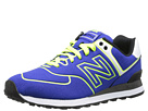 New Balance Classics WL574 Neon Lights Blue, Yellow Shoes