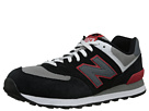 New Balance Classics ML574 Black, Red 14 Shoes