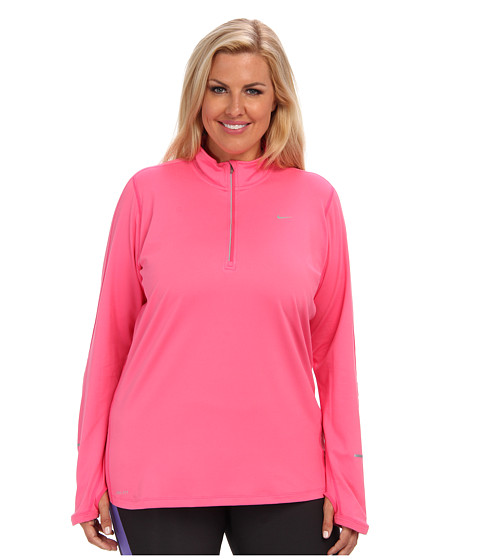 Nike - Extended Element Half-Zip (Dynamic Pink) - Apparel