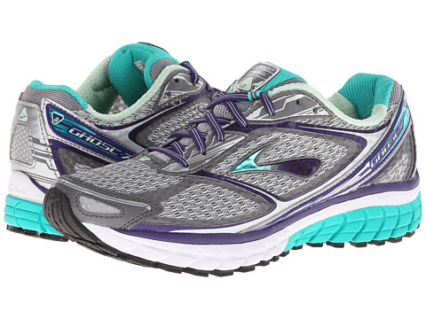 Brooks Ghost 7 Silver/Mulbry Purple/Pool Green