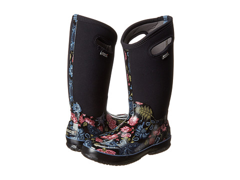 Bogs Classic Winter Blooms Tall - Black Multi