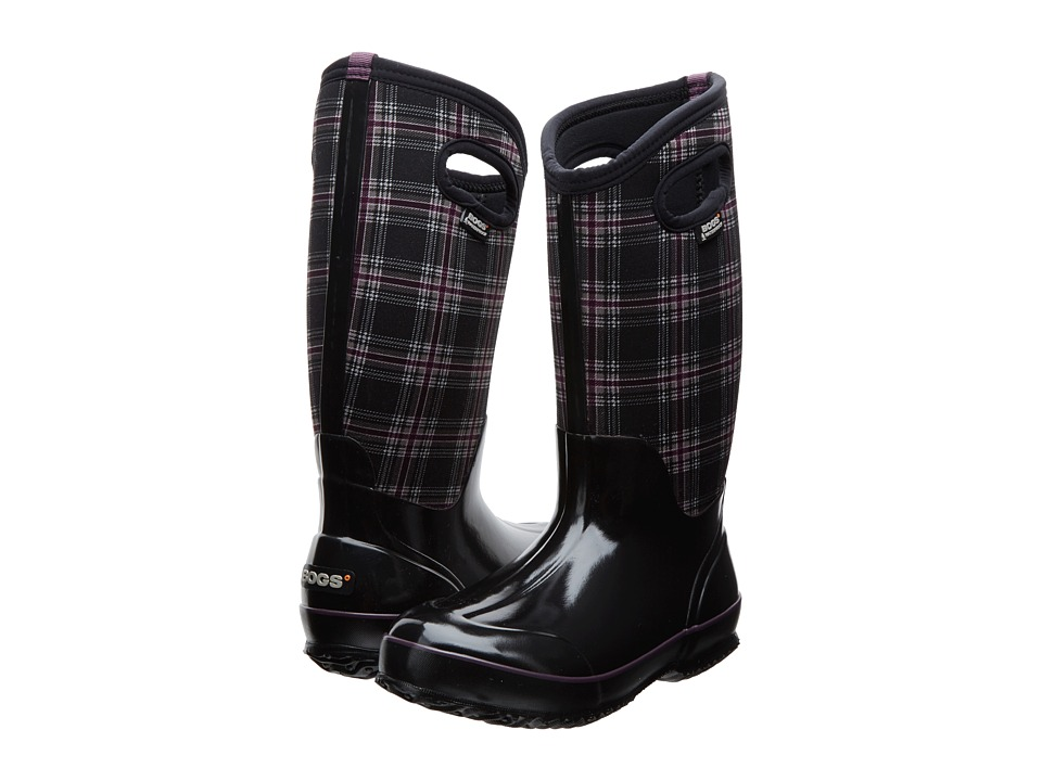 Bogs Classic Winter Plaid Tall (Black Multi) Women
