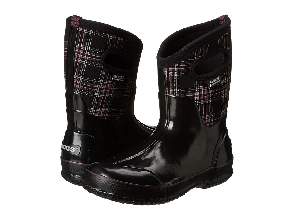 Bogs Classic Winter Plaid Mid (Black Multi) Women