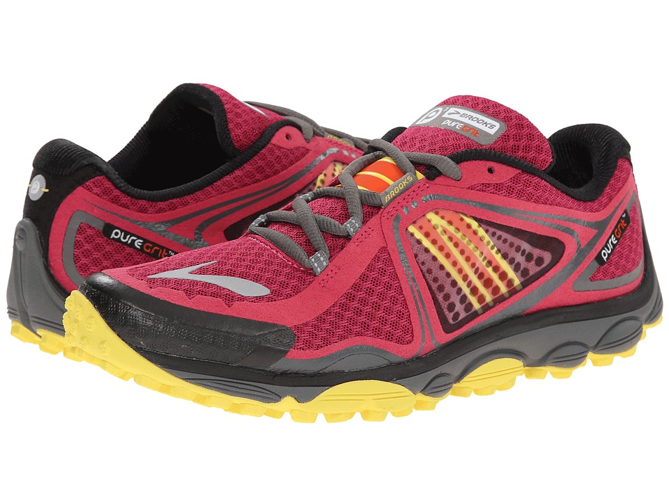 Brooks - PureGrit 3 (Sangria/Cherry Tomato/Buttercup) Women's Running Shoes