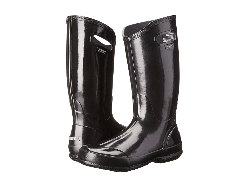 Bogs Classic Glosh Rainboot (Black 1) Women