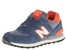New Balance Classics WL574 Pennant Collection Navy, Orange Shoes